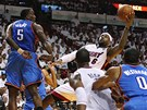LeBron James z Miami st��l� na ko� Oklahomy City.