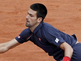 Novak Djokovi dobh m ve finle Roland Garros.