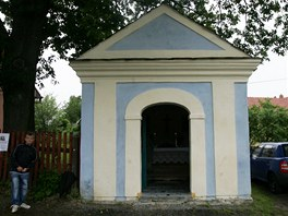 Zrenovovan� kapli�ka ve v�tkovsk� m�stn� ��sti Nov� T�chanovice.