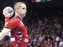 Jan Filip střílí na ruskou branku. Momentka z jeho posledního zápasu v českém
