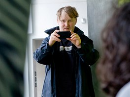 Rozhovor s herci z nového snímku Polski film režiséra Marka Najbrta, na snímku