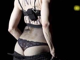 Madonna v Římě ukázala zadek (12. června 2012).