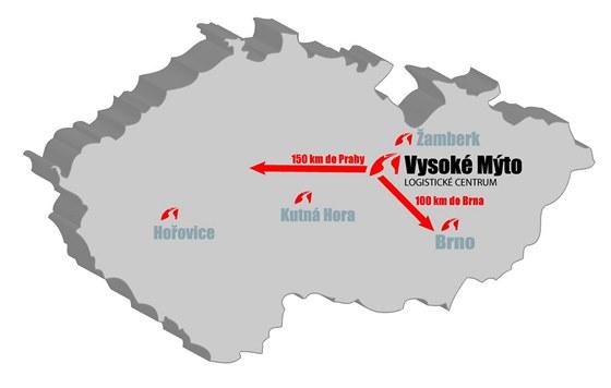 Společnost Šmídl - mapa
