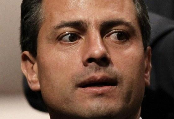 Prezidentský kandidát Revoluční institucionální strany (PRI) Enrique Pena