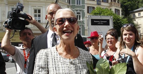 Helen Mirrenová v Karlových Varech