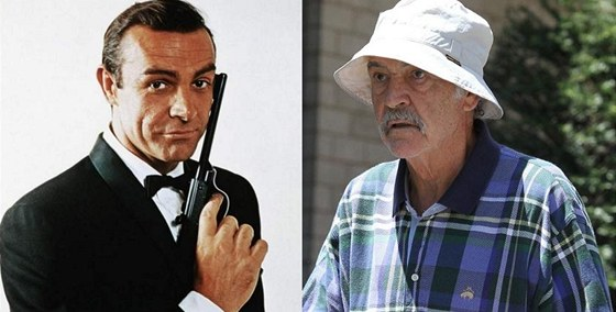Sean Connery coby James Bond (1963) a v dchodu (2012)