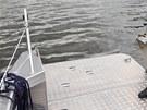 Plavidlo Faster 650 cat bylo postaven� na zak�zku. Plout m�e i v m�stech, kde