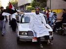 Přívrženci Muslimského bratrstva a Muhammada Mursího oslavují vítězství