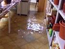 V Rokytnici v Orlických horách zatopila voda suterén ústavu. Klienti nemohou