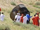 Čínská vesmírná loď Šen-čou 9 přistála na padáku v autonomní oblasti Vnitřní