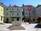 Hlavní náměstí městečka Krk.