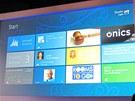 Plocha Windows 8 s aplikacemi pro firemní zákazníky(omluvte sníženou kvalitu