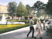 Vítězný návrh přeměny Severních teras a Žižkových sadů v Hradci Králové.