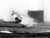 Ponorka USS Halibut, která objevila vrak K-129 , během svých bojových let před