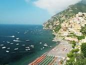 Positano, jižní Itálie