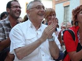 Jiří Menzel na Postřižinských slavnostech v pivovaru Dalešice v červnu 2012