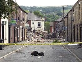 V�buch plynu v britsk�m Manchesteru, p�i kter�m zem�elo jedno d�t�