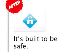Propagační text po změně zdůrazňuje jen vestavěné bezpečnostní prvky Mac OS X