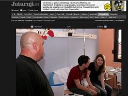 �e�t� turist� z havarovan�ho autobusu byli p�evezeni do nemocnice v chorvatsk�m