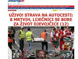 Tragick� nehoda �esk�ho autobusu je pro chorvatsk� m�dia ud�lost� ��slo jedna.