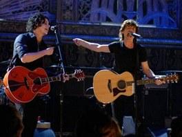 z filmu Shine A Light - Jack White a Mick Jagger