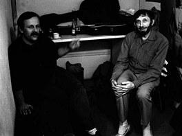 Večírek rozpadlých dvojic 1989 - Jiří Dědeček a Jan Vodňanský.