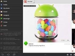 Nová aplikace mnohem lépe využívá možnosti velkého displeje tabletu a nabízí