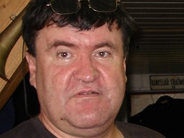 Modelář Jaroslav Navrátil z Vrčeně na Plzeňsku.