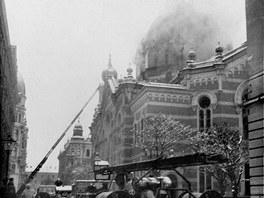 Olomoucká synagoga byla okamžitě po příchodu nacistů, v noci z 15. na 16.