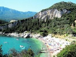 Korfu, zátoka Liapades
