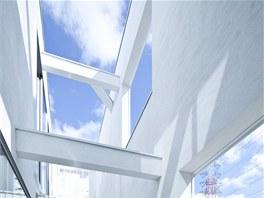 Hamada vytvo�il koncept jednoduch�ho t��patrov�ho domku, kter� prot�n�