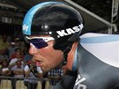 SPURTER V PROLOGU. Marc Cavendish na trati vodn asovky na Tour de France.