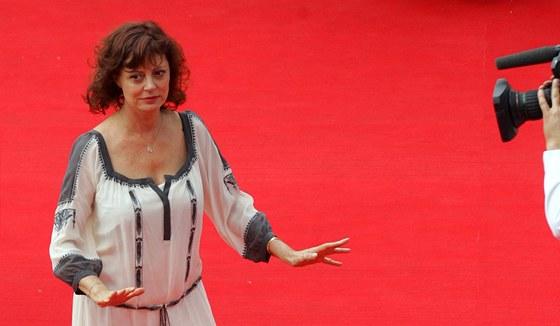 Oscarová herečka Susan Sarandonová na červeném koberci před uvedením filmu...