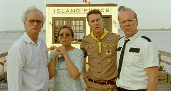 Bill Murray, Frances McDormandov�, Edward Norton a Bruce Willis ve filmu