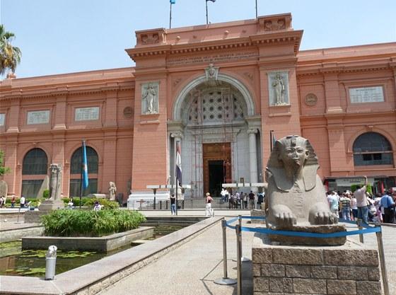 Do Egyptského muzea v Káhiře s fotoaparátem a kamerou nesmíte. Musíte je nechat