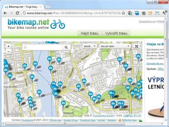 Na webu Bikemap.net najdou tipy na výlety vášniví cyklisté i rekreační kolaři