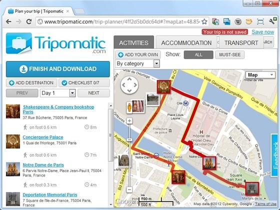 Server Tripmatic.com vás provede pamětihodnostmi světových metropolí