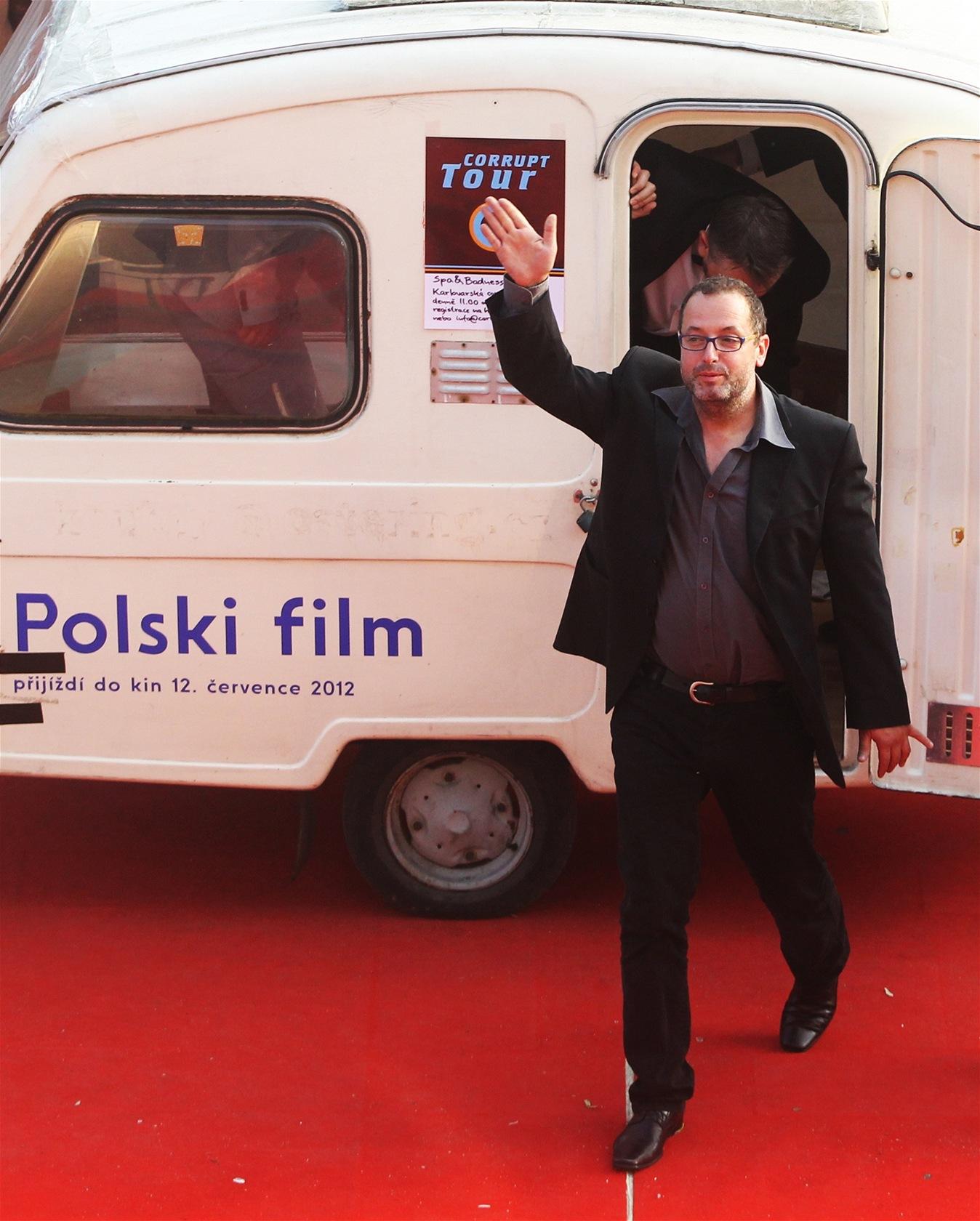 Josef Polášek přijel premiéru snímku Polski film v karavanu
