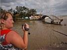 Záplavami zničený most v černomořském letovisku Gelendzhik na jihu Ruska (7.