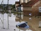 Záplavy v Novoukrajinsku na jihu Ruska (7. července 2012)