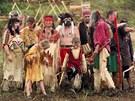 Indiáni se na Poslední indiánské války pořádně vyšňořili. Březno u Chomutova
