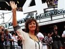 Oscarová herečka Susan Sarandonová na červeném koberci před uvedením filmu