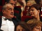 Susan Sarandonová a Karel Schwarzenberg při slavnostním zakončení karlovarského