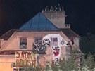 Vilu Milada v noci na 1. �ervence obsadilo asi 40 squater�. Policie proti nim
