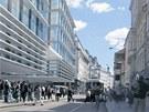 Podoba Copa Centra p�i pohledu do Sp�len� ulice