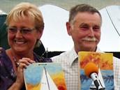 Mořeplavec Petr Ondráček s manželkou v Mokrém.