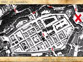 Mapa bitvy v josefovsk� pevnosti