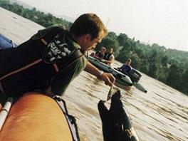 Lachtan Gaston a povodně 2002