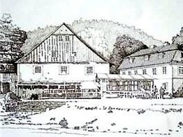 Dolský mlýn u Jetřichovic - studie podoby v 18. století