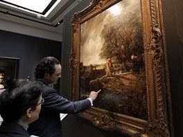 Obraz Johna Constablea The Lock byl vydražen za rekordní sumu.